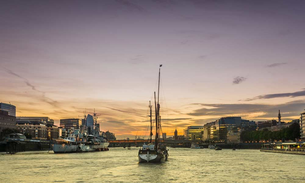 Thames Sailing Barge Will for hire | Open Tower Bridge